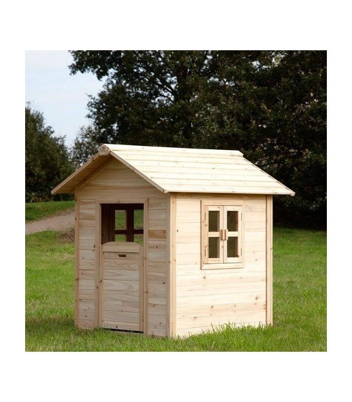 Maisonnette en bois naturel pour enfant noa for Cabane de jardin en bois pour enfant