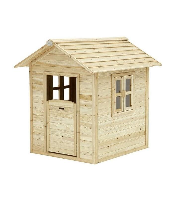Maisonnette en bois naturel pour enfant noa - Cabane jardin bois enfant ...