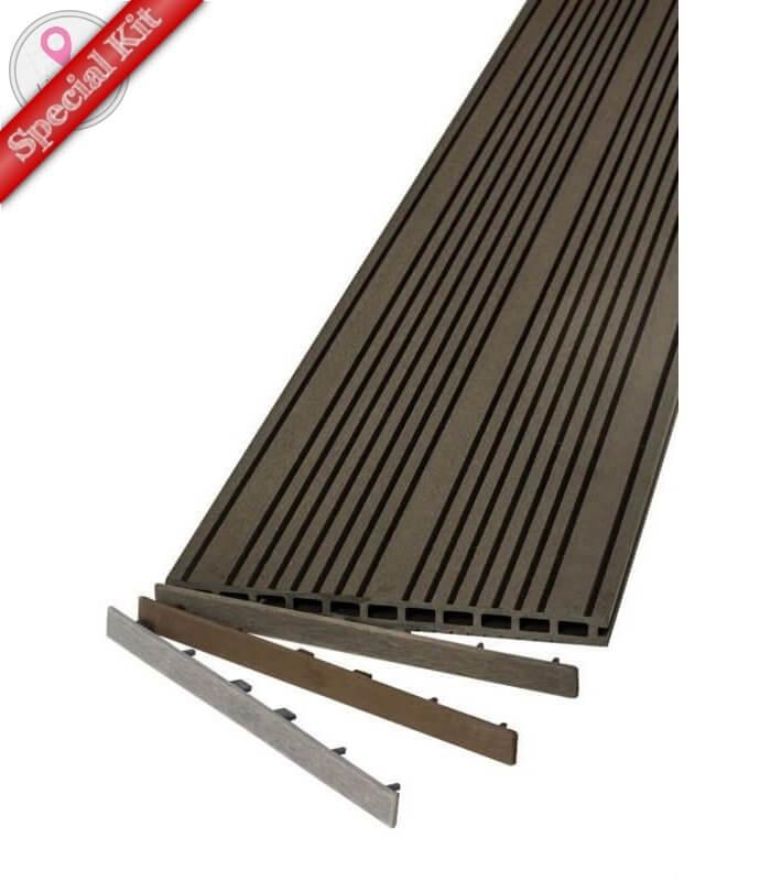 kit complet terrasse en bois composite. Black Bedroom Furniture Sets. Home Design Ideas