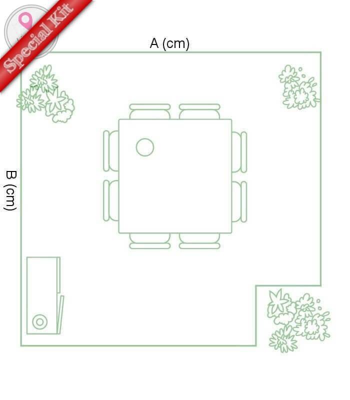 Kit Terrasse Composite forme en L composite haut de gamme 60% de bois