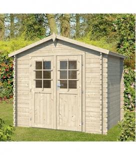 2.5m x 2m wooden garden shed with double door