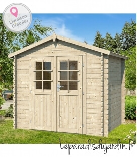 2.5m x 2.5m double slope wooden garden shed