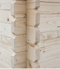 Abri de jardin en bois double pente de 6.25m² (2,5m x 2,5m)