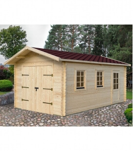Two-sided wooden garage of 20 m² (4mx5m)