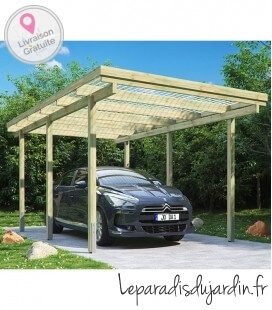 Carport simple de 15 m² (3mx5m)