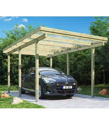 Carport simple de 15 m² (3mx5m)