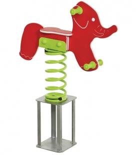 Elephant-shaped spring rocker game
