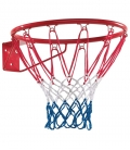 Blue, white and red basketball hoop to fix