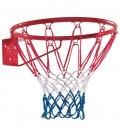 Panier de basket de coloris bleu, blanc et rouge à fixer