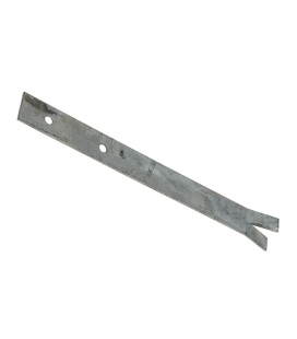 Set of 2 split flat ground anchors in galvanized steel