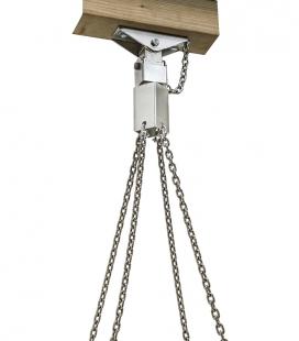 Crochet pour balançoire de groupe - suspension à point unique - inox avec 4 manilles M6