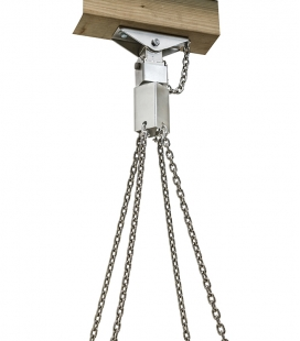 Group swing hook - single point suspension - stainless steel with 4 M6 shackles