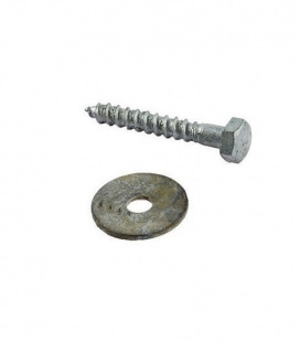 Anchoring with rosette and galvanized steel screw Lg 500 m / m