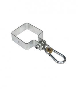 Crochet carré 'autour' fixation balançoire 3mm