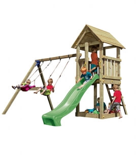 Kiosk play area with 290 cm slide and swing (Swing)