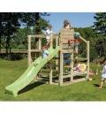 Aire de jeux Crossfit en bois avec toboggan de 2m90