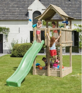 Pagoda wooden play tower with 2m90 slide
