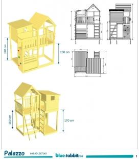 Aire de jeux Palazzo avec Toboggan de 290 cm