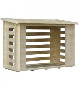 Abri à bûches en bois (2,08mx1,03m)