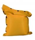 Pouf coussin géant 125 x 175 spécial piscine shelto fabrication française coloris jaune soufre