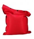 Pouf coussin géant 125 x 175 spécial piscine shelto fabrication française coloris rouge