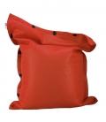 Pouf coussin géant 125 x 175 spécial piscine shelto fabrication française coloris orange