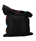 Pouf coussin géant 125 x 175 spécial piscine shelto fabrication française coloris noir