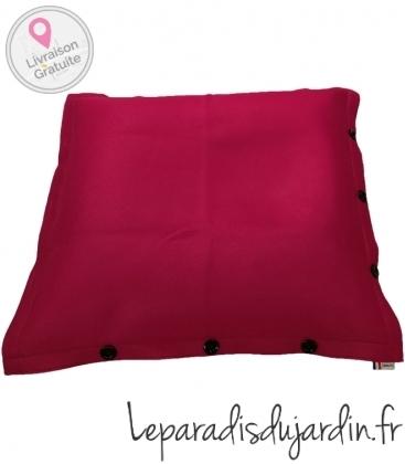 Pouf coussin géant 125 x 175 spécial piscine shelto fabrication française coloris rose fuschia