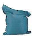 Pouf coussin géant 125 x 175 spécial piscine shelto fabrication française coloris bleu