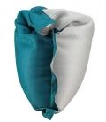 Pouf coussin bi-color 125 x 175 shelto spécial piscine coloris griscloud-bleutile