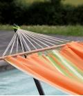 Set support métallique METALIK JOBEK + hamac vert-orange-écru