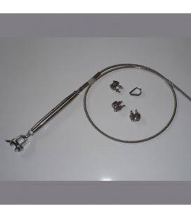 Tendeur serti avec cable inox 316