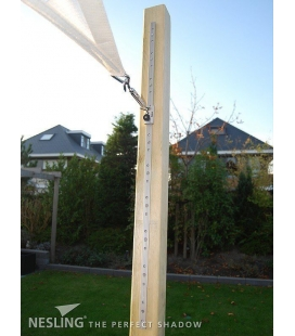 Slide eye rail for shade sail