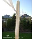 Rail à oeil coulisse pour voile d'ombrage