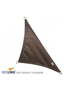 Voile d'ombrage coloris anthracite 4x4x5,7m Densité 285Gr Nesling Hdpe haute protection solaire