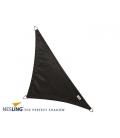 Voile d'ombrage coloris noir 4x4x5,7m Densité 285Gr Nesling Hdpe haute protection solaire