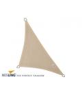 Voile d'ombrage coloris crème 4x4x5,7m Densité 285Gr Nesling Hdpe haute protection solaire
