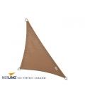 Voile d'ombrage coloris sable 4x4x5,7m Densité 285Gr Nesling Hdpe haute protection solaire