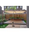 voile d'ombrage veranda HDPE couleur sable