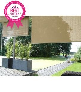 toile vertical à enrouler veranda hdpe couleur sable du désert
