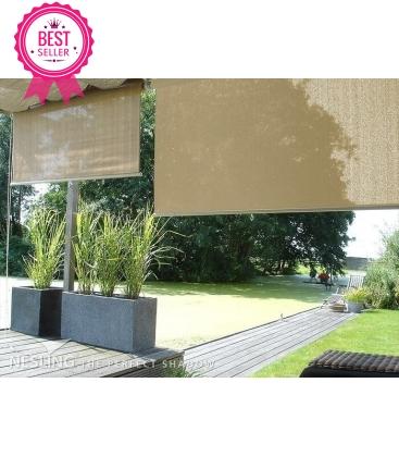 toile vertical Nesling à enrouler veranda hdpe couleur sable du désert