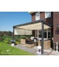 voile d'ombre veranda et pergola vertical hdpe couleur creme