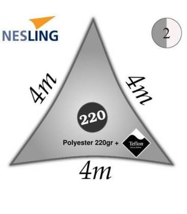 Voile d'ombrage polyester 4m densité 220Gr couleur gris
