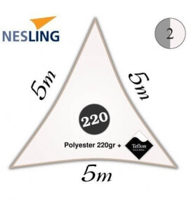 Sail 5m triangle + teflon density 220Gr white color