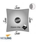 Voile 5m carré nesling pro densité 220Gr couleur