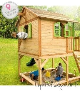Jardin Cabane enfant Marc en bois tropical