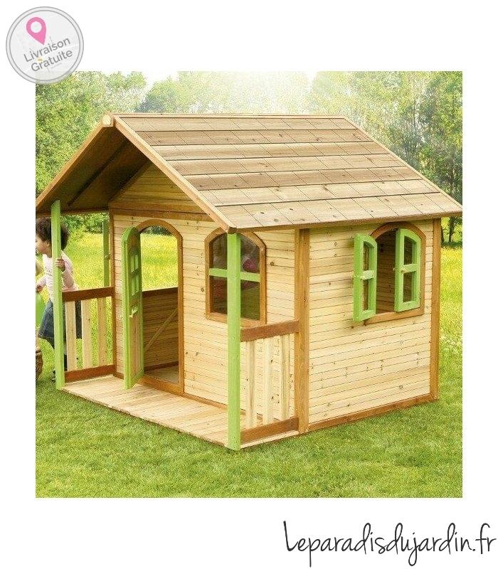cabane en bois milan maisonnette enfant naturelle. Black Bedroom Furniture Sets. Home Design Ideas