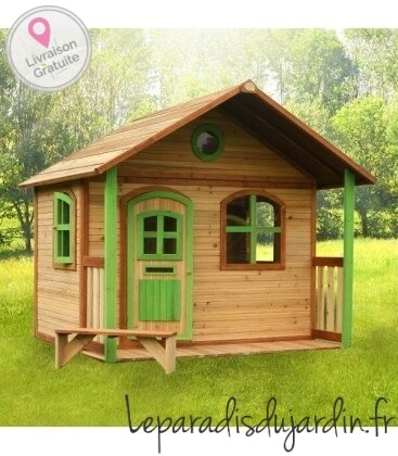 Jardin Maisonnette Milan en bois tropical