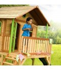 Jardin Maisonnette slide child Sophie in tropical wood