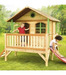 Jardin Maisonnette stilts child Stef in tropical wood